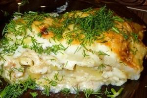 рыбная картофельная запеканка