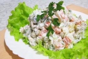 салат по домашнему Оливье