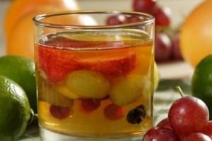 желе со свежими фруктами
