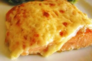 горбуша запеченная с сыром
