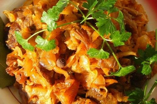 рецепты из белокочанной капусты вторые блюда