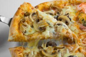 пицца грибы и сыр