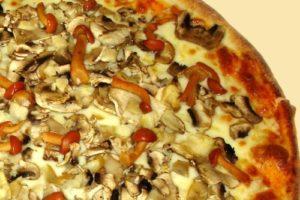 пицца сыр и грибы