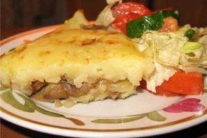 с грибами и сыром картофельная запеканка