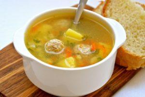с куриными фрикадельками суп