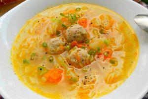 суп куриные фрикадельки
