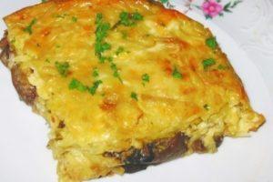 запеканка картофельная с сыром и грибами