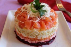 под шубой рыба красная салат