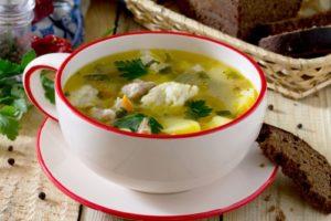 с клецками вкусный суп