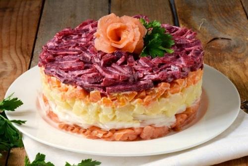 Салат красная рыба под шубой