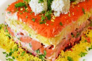 салат рыба красная под шубой