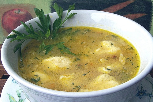 Суп с клецками украинские рецепт с фото