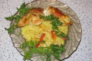 с овощами и рисом грудки куриные