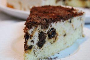 сметанный торт чернослив