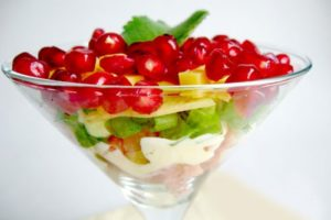 со сливками фруктовый салат