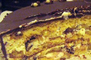 торт чернослив сметана
