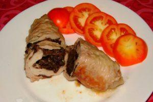 зразы мясные с сыром и грибами