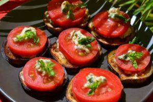 помидоры и баклажаны закуска