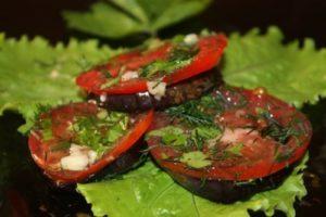 закуска баклажаны и помидоры