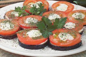закуска помидоры и баклажаны