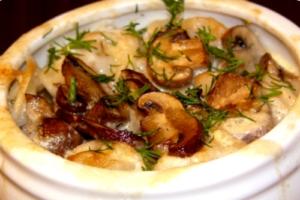 запеченный картофель с сыром и грибами